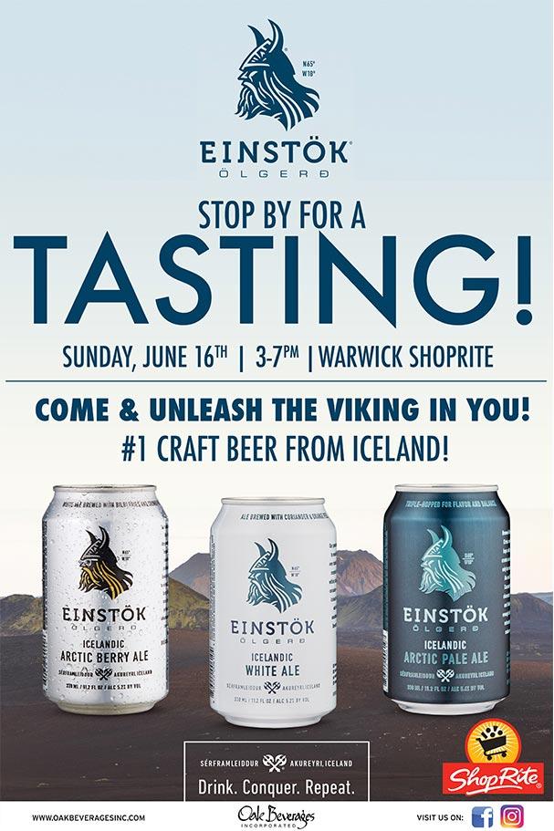 Shoprite Warwick Hosts Einstok Beer Tasting