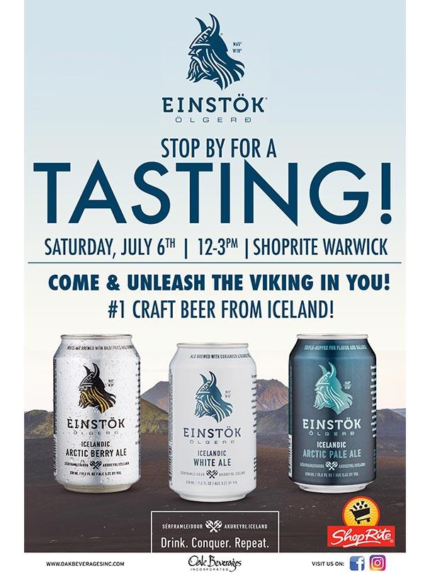 Einstok Tasting event at Shoprite Warwick