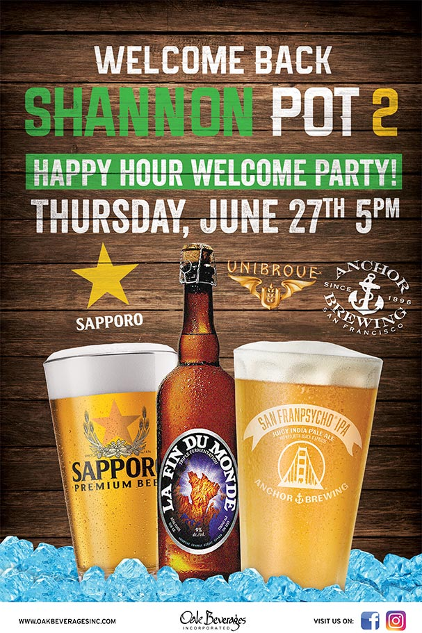 Shannon Pot Welcome Back Happy Hour