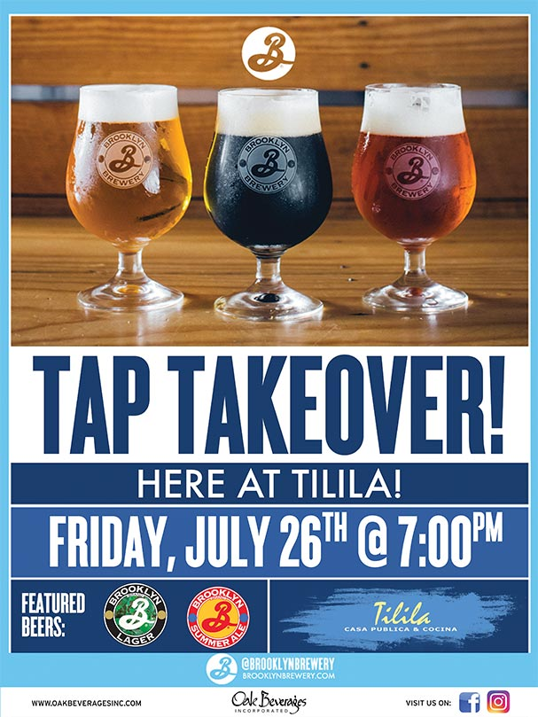 Brooklyn Brewery Tap Takeover at Tilila