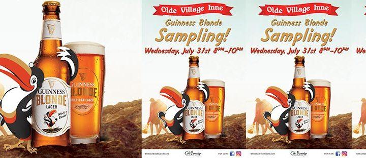 Olde Village Inne Guinness Blonde Sampling