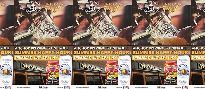 McMahon's Anchor Brewing and Unibroue Happy Hour
