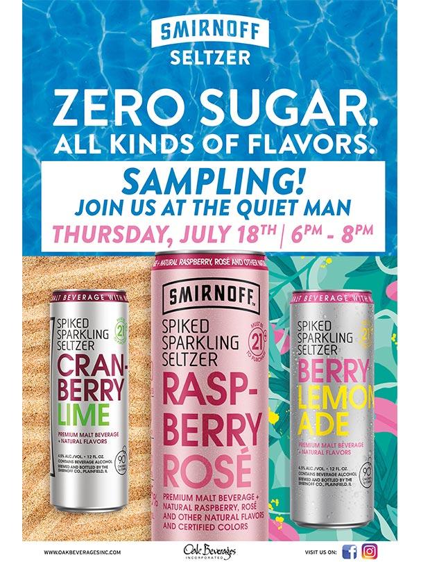 Smirnoff Spiked Sparkling Seltzer Tasting at Quiet Man
