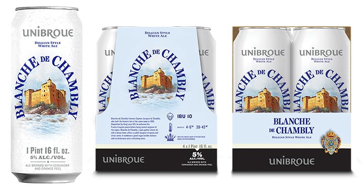 Unibroue Launches Blanche de Chambly in Cans