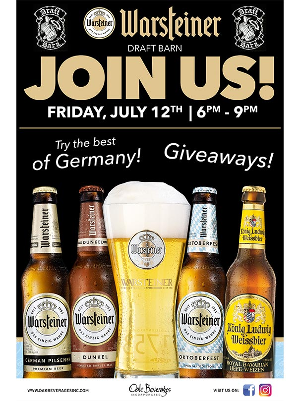 Warsteiner Beer Tasting at Draft Barn