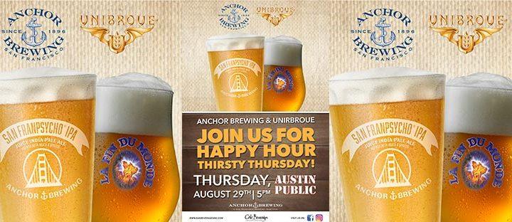 Austin Public hosts Anchor Brewing & Unibroue Happy Hour