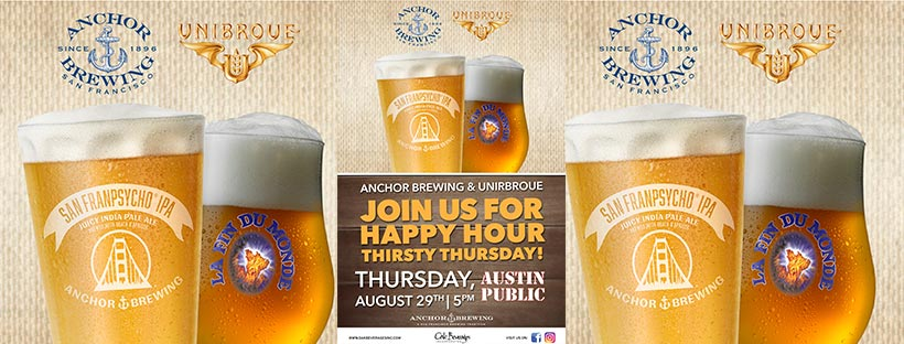 Austin Public hosts Anchor Brewing & Unibroue