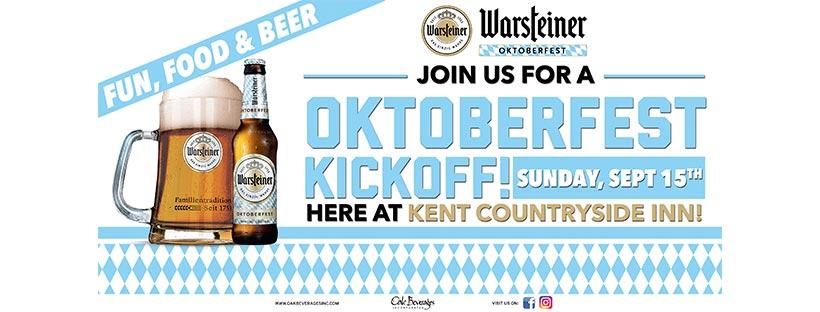 Warsteiner Oktoberfest Kickoff at Kent Country Inn