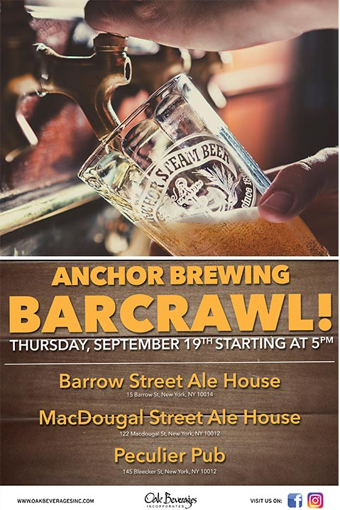 Anchor Brewing Greenwich Village Bar Crawl