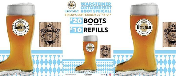 Draft Barn Warsteiner Oktoberfest Boot Special