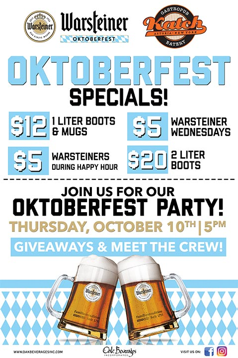 Warsteiner Oktoberfest at Katch Astoria