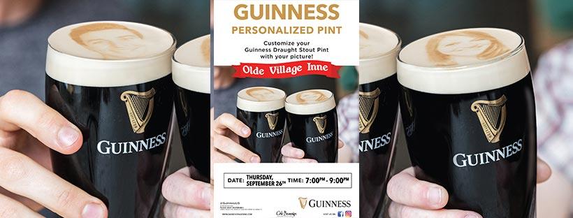 Guinness Pint STOUTie at Olde Village Inne