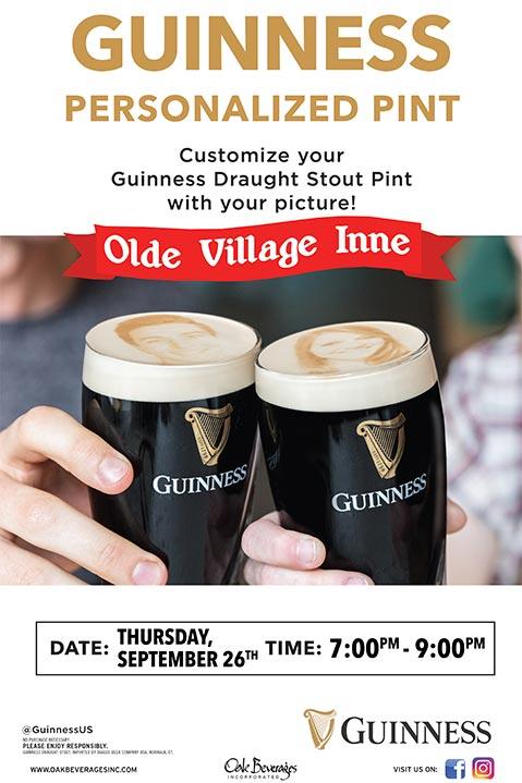 Guinness Pint Selfie at Olde Village Inne