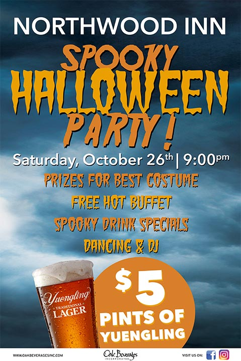 Northwood Inn Halloween Party with Yuengling