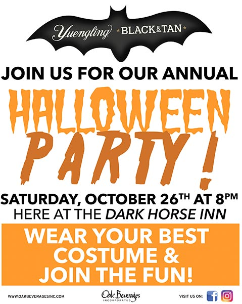 Yuengling Halloween Party at Dark Horse Inn
