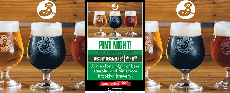 Brooklyn Brewery Pint Night at Olde Village Inne