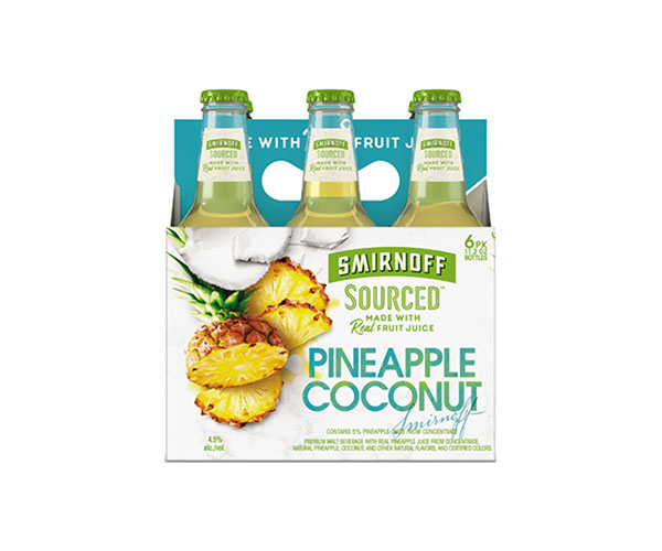 Smirnoff Sourced Pineapple Coconut