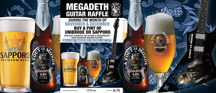 Unibroue Megadeth Guitar Giveaway