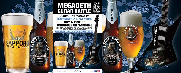 Unibroue Megadeth Guitar Giveaway at Draft Barn
