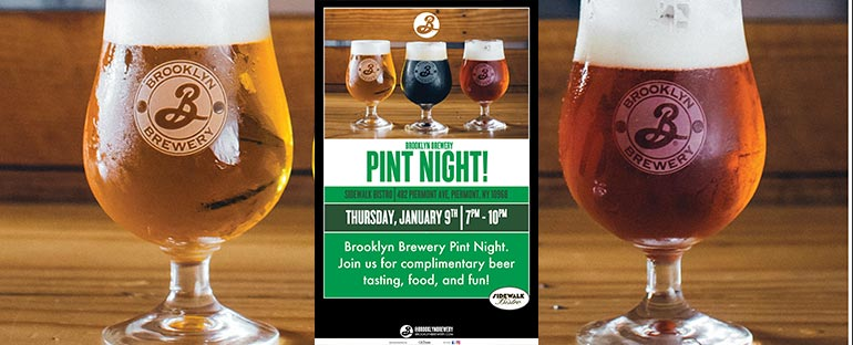 Sidewalk Bistro Brooklyn Brewery Pint Night