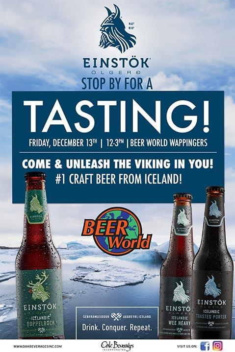 Beer World Einstok Beer Tasting
