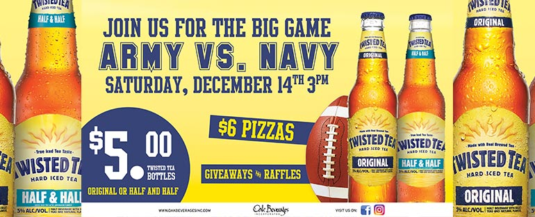 Twisted Tea Army Navy Game at Spectators