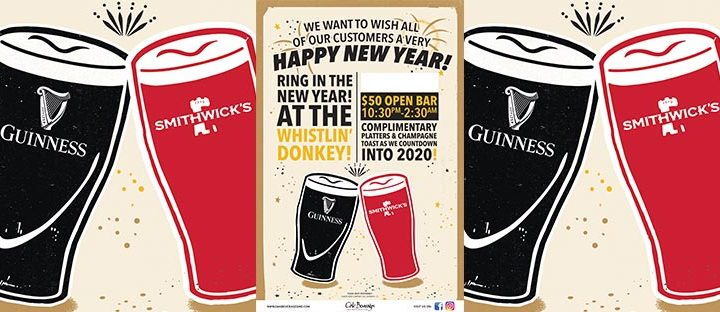 Whistlin' Donkey New Years Eve Party with Guinness