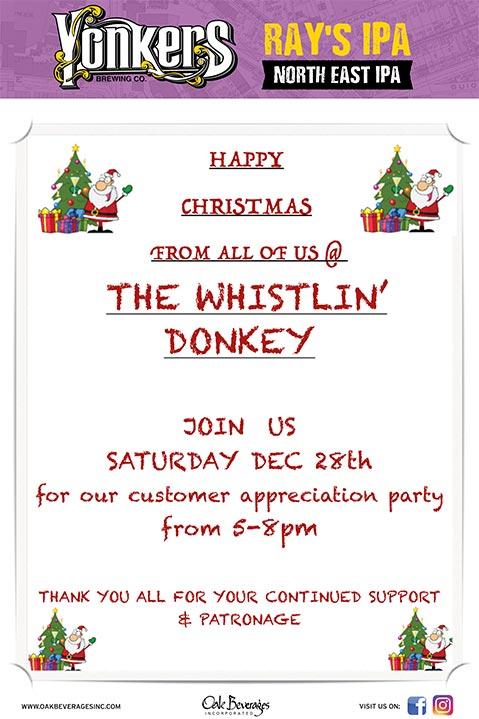 Whistlin' Donkey Customer Appreciation Party