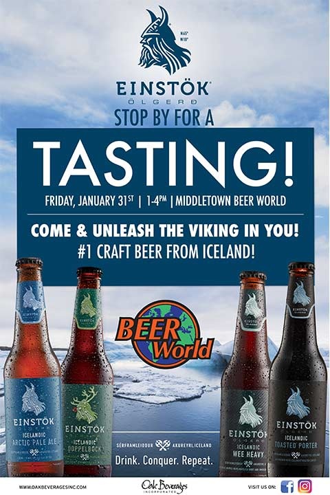 Einstok Tasting at Beer World Middletown