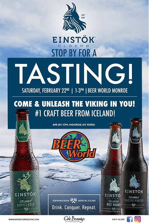 Einstok Icelandic Craft Beer Tasting at Beer World