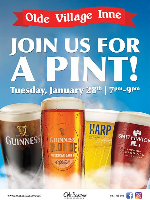 Guinness Pint Night at Olde Village Inne