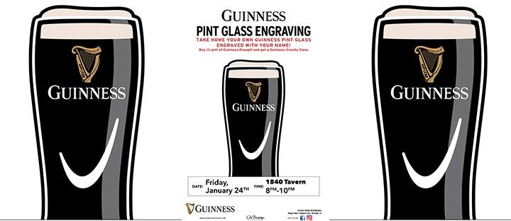 1840 Tavern Guinness Engraving Event
