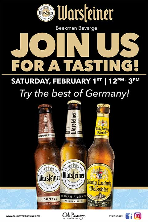 Beekman Beverage Warsteiner Tasting Event
