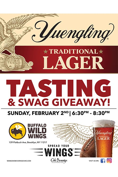 Buffalo Wild Wings Yuengling Tasting and Giveaway
