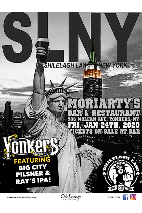 Shilelagh Law and Yonkers Brewing at Moriarty's