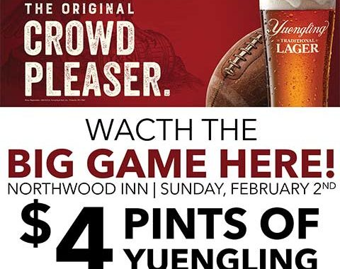 Northwood Inn Big Game Yuengling Special