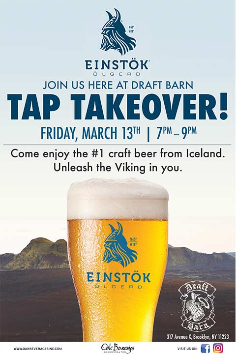 Einstok Tap Takeover at Draft Barn