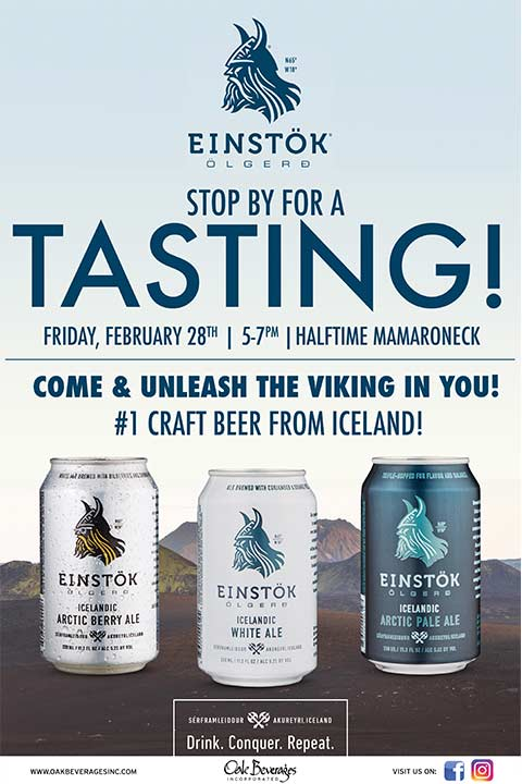 Einstok Icelandic Beer Tasting at Half Time