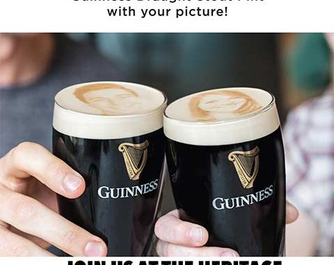 Personalized Guinness Pints at The Heritage