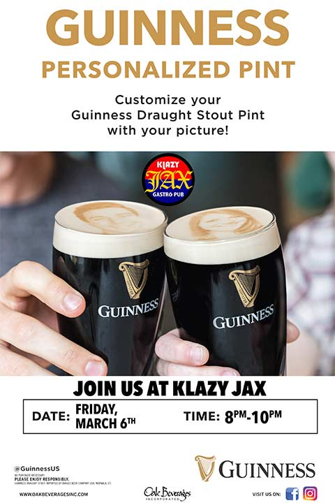 Klazy Jax Guinness Stoutie Pint Night
