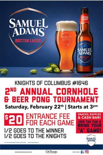 Knights of Columbus Sam Adams Beer Pong Tournament