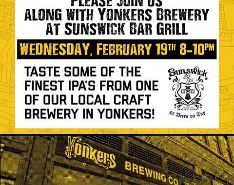 Yonkers Brewing Tasting at Sunswick