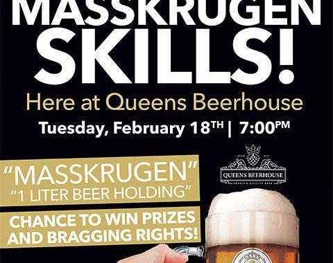 Queens Beerhouse Warsteiner Masskrugen Challenge