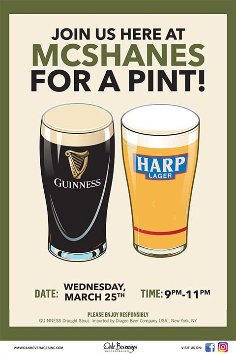 McShanes Guinness Pint Night
