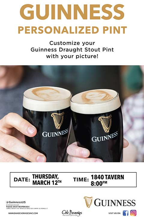 Guinness Stoutie Night at 1840 Tavern