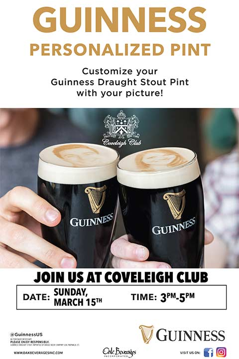 Guinness Stoutie Pint Night at Coveleigh Club