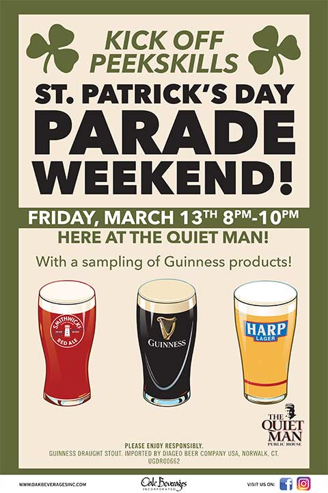 Peekskill St. Patrick's Day Parade Weekend