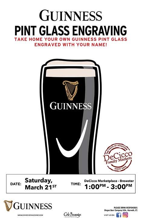 Decicco's Brewster Guinness Glass Engraving