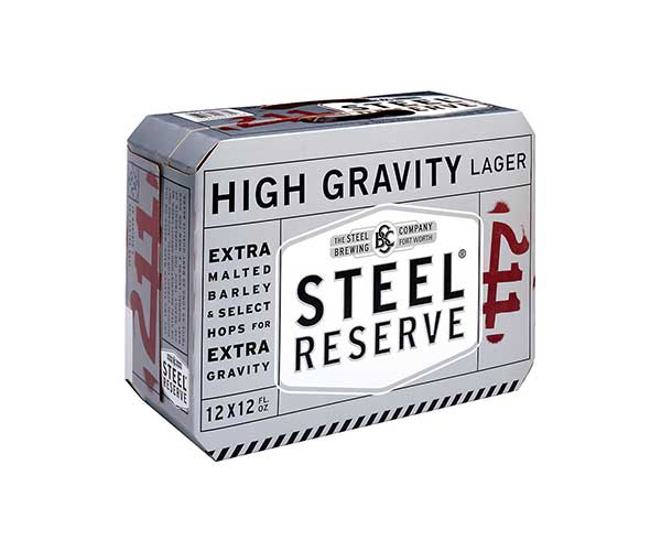 Steel Reserve 12 pack can