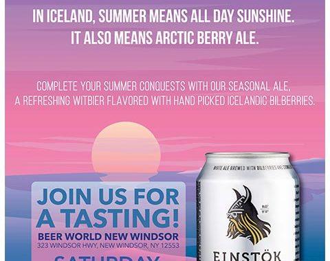 Beer World New Windsor Einstok Tasting